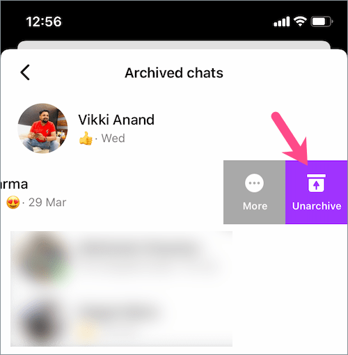 how to unarchive messages in messenger 2021 on iPhone