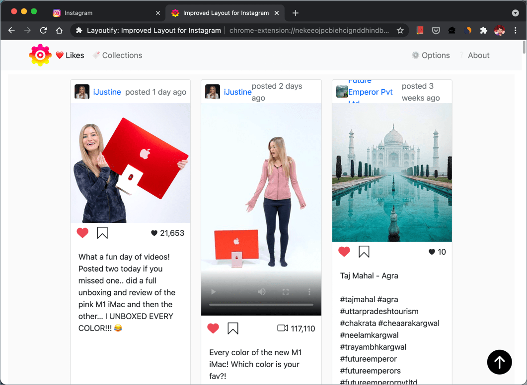 how to see posts you've liked on instagram on computer