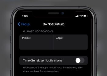 allowed notifications in do not disturb on iOS 15