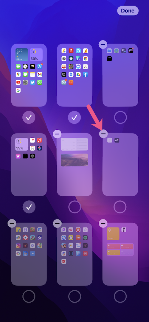 how to delete Home Screen pages in iOS 15 on iPhone