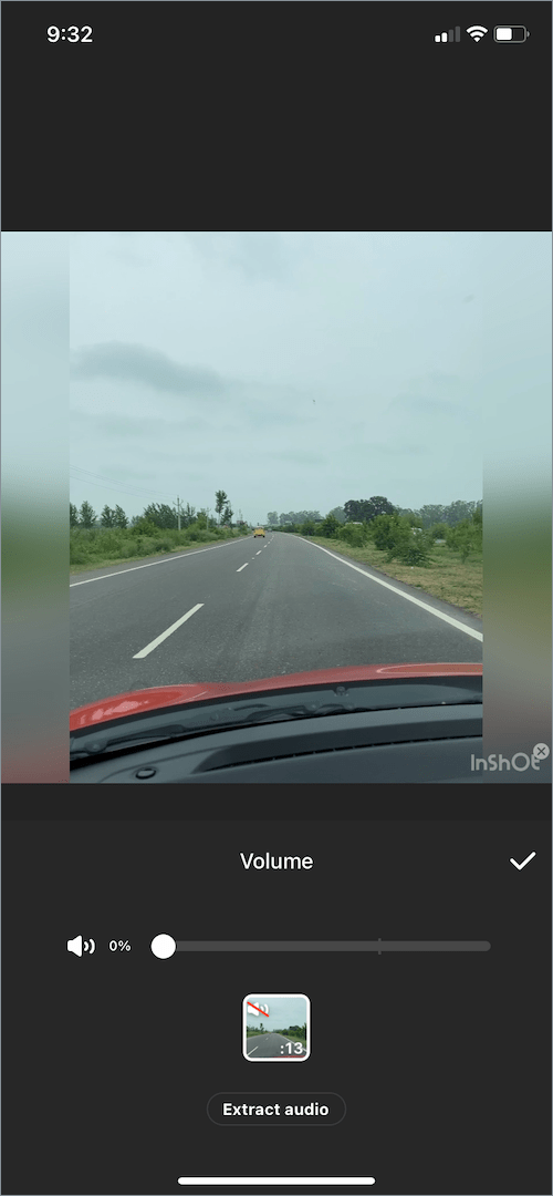 how to mute a video in inshot app
