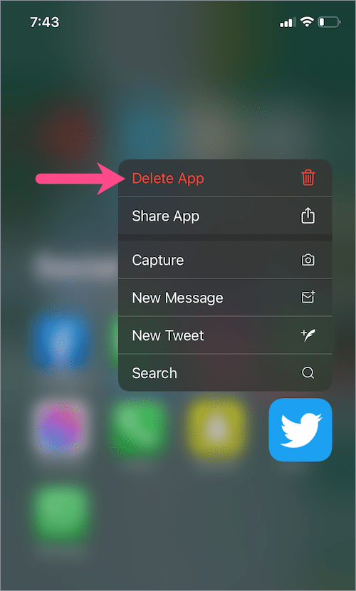 How to delete an app that is hidden from home screen on iPhone