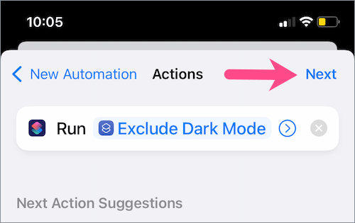 how to disable dark appearance for specific apps on iOS