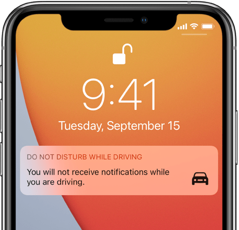 Do Not Disturb While Driving on iPhone