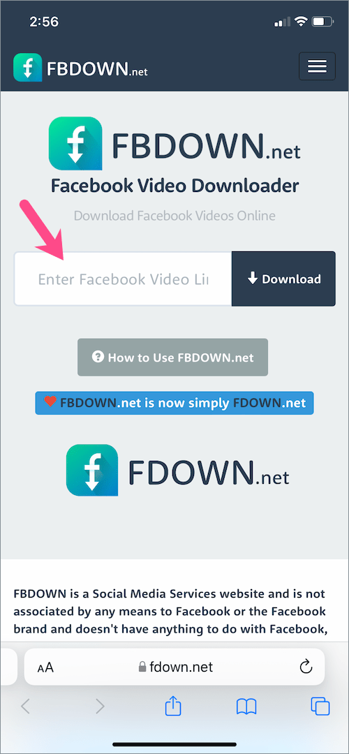 how to download Facebook reels video on iPhone
