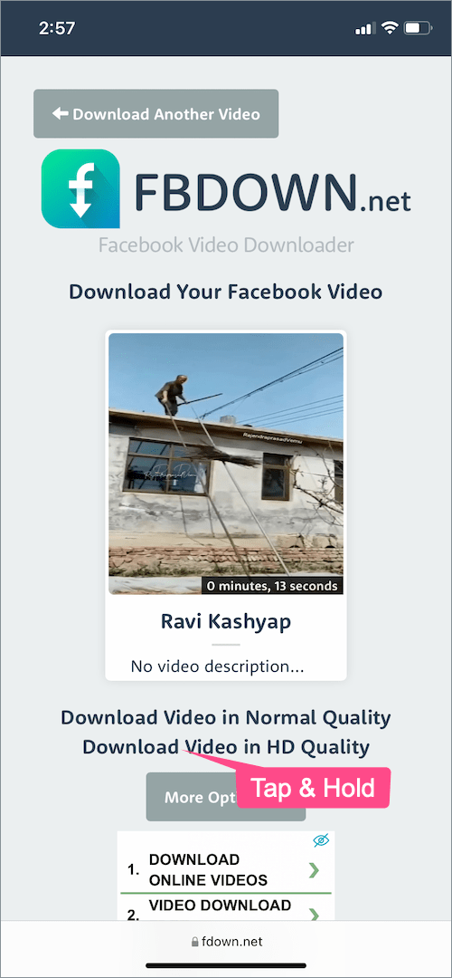 how to download reels from Facebook on iPhone