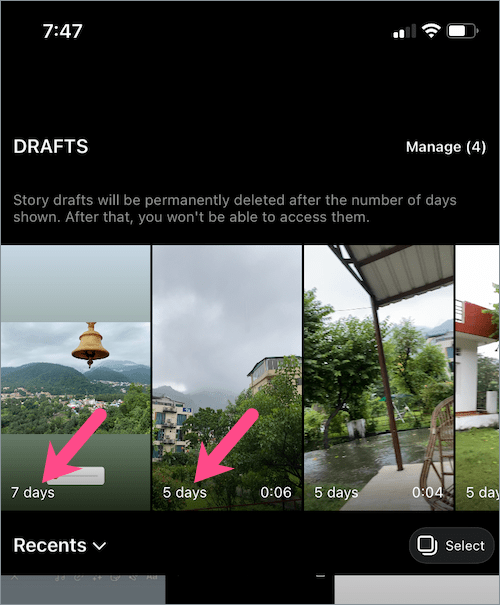 how to find draft stories on instagram