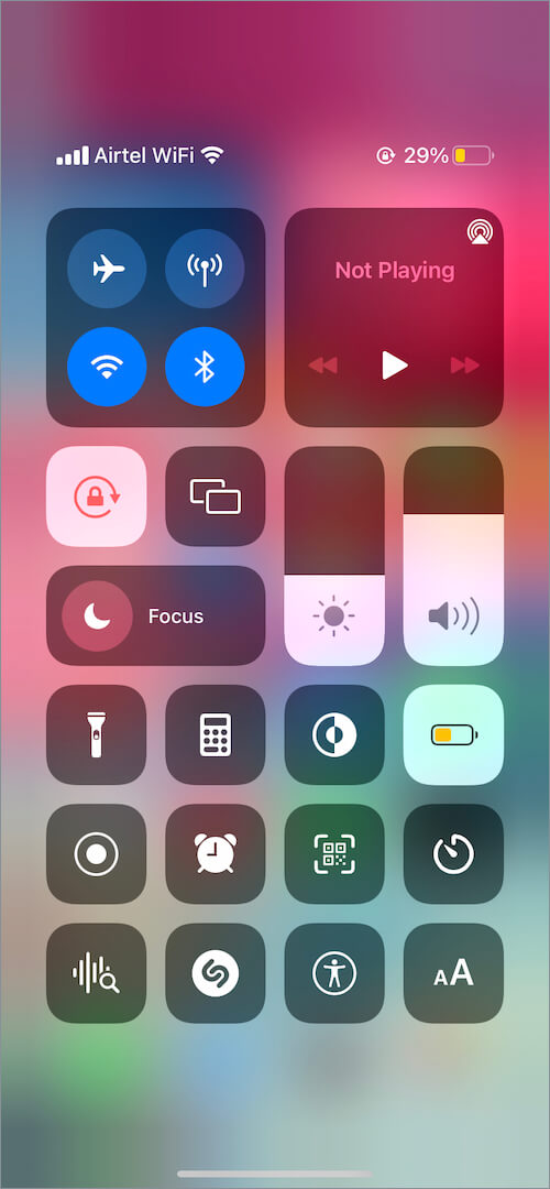 low power mode enabled on iPhone
