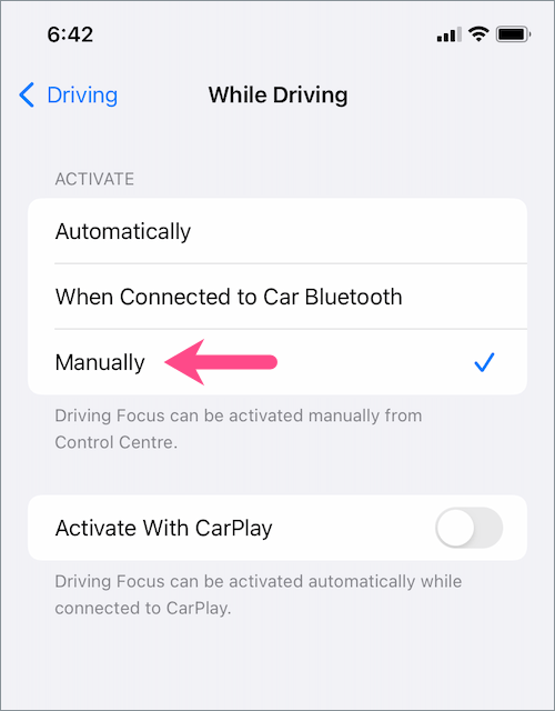 how to permanently turn off do not disturb while driving in iOS 15