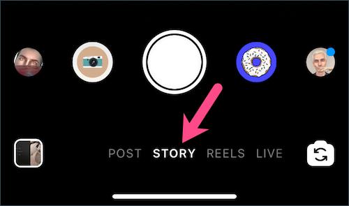 story tab in instagram app