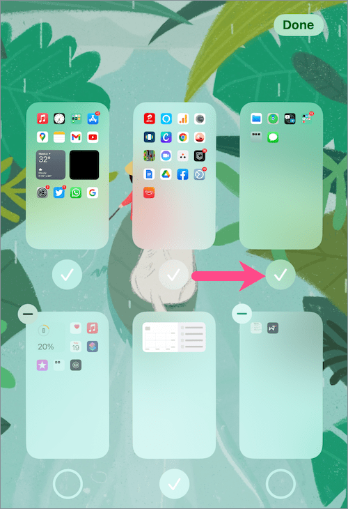 how to unhide Home Screen pages in iOS 14 on iPhone