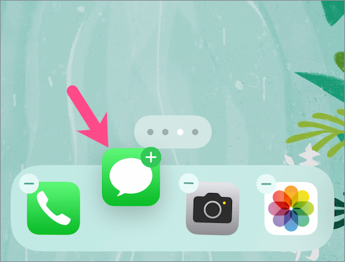 how to unhide messages app on iPhone