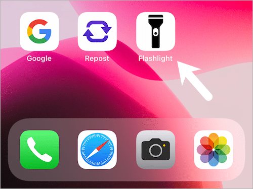 add torch icon to your iPhone 13 Home Screen