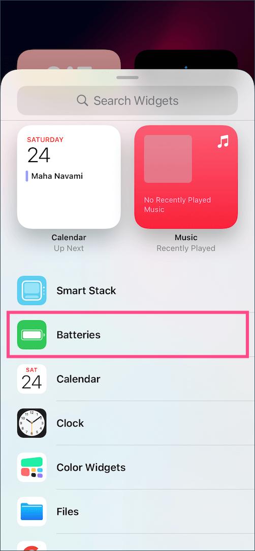 widgets in iOS 15 on iPhone