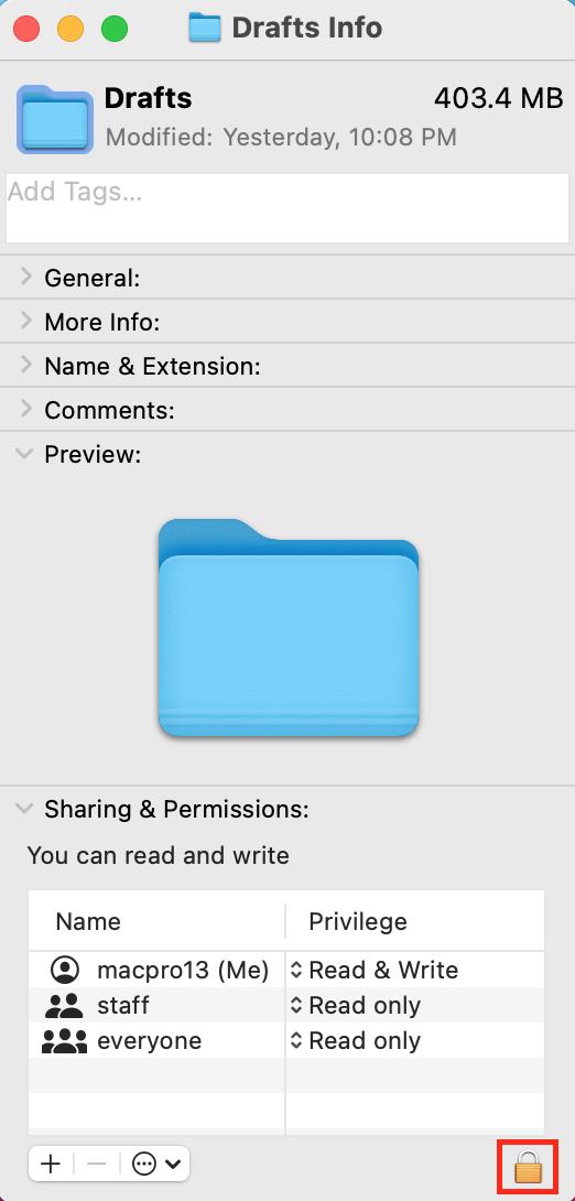 padlock icon Mac